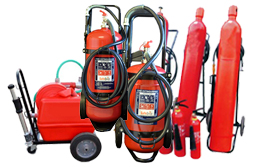 Fire Extinguisher Trolley Units